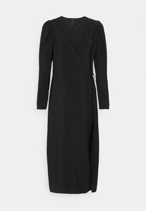 DRESS MARJORIE SOLID - Korte jurk - black