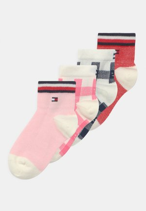 PLAID CHECK 4 PACK UNISEX - Socks - pink