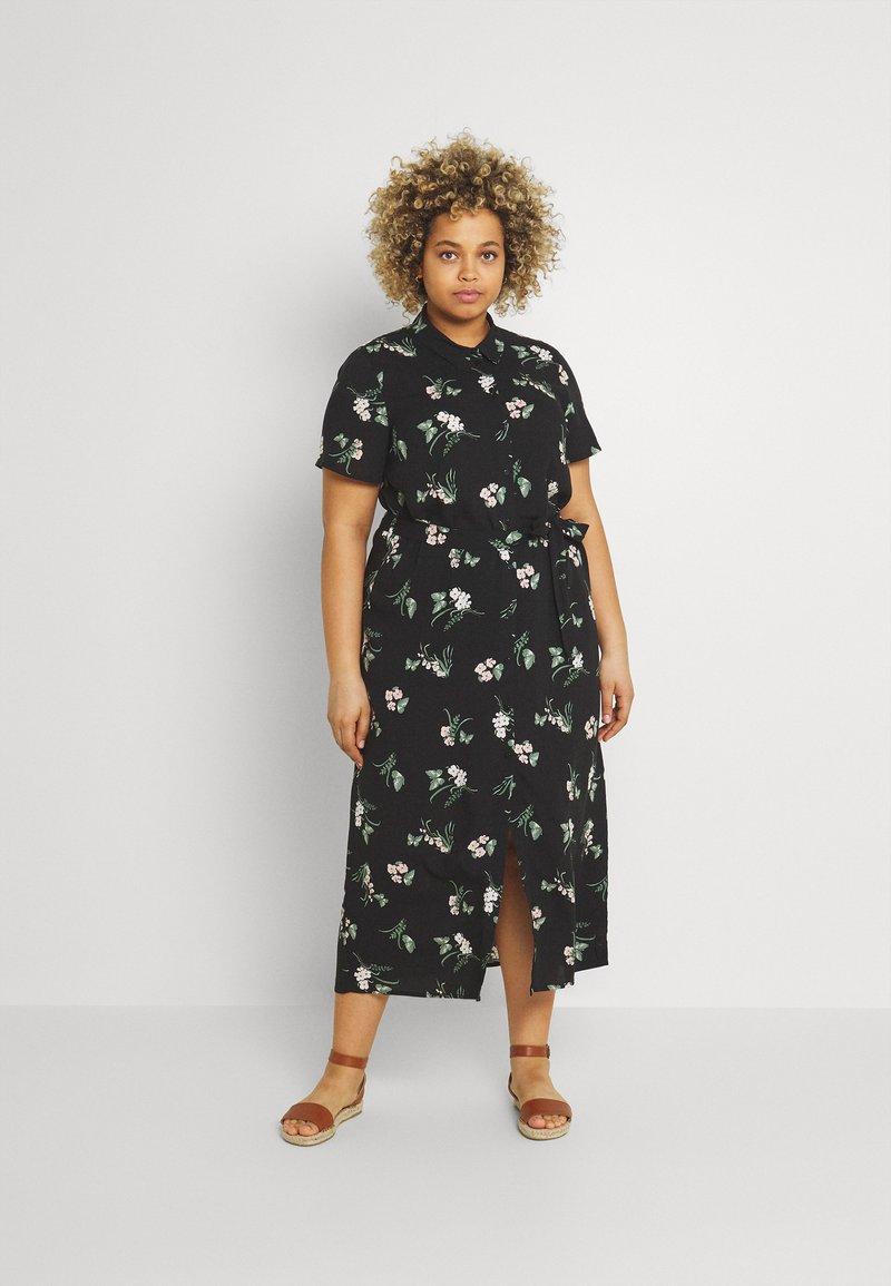 Vero Moda Curve - VMSIMPLY EASY LONG - Košilové šaty - black