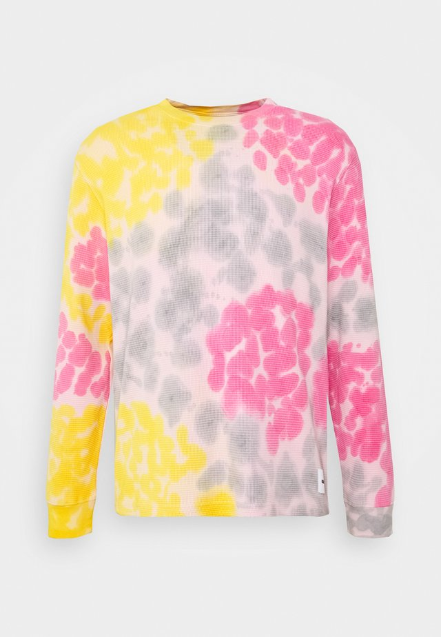 SUSTAINABLE TIE DYE THERMAL  - Topper langermet - yellow multi