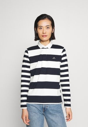MIXED STRIPE HEAVY RUGGER - Polo shirt - evening blue
