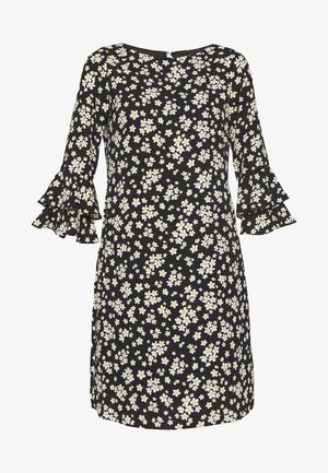 DAISY PUFF SLEEVE DRESS - Robe d'été - black