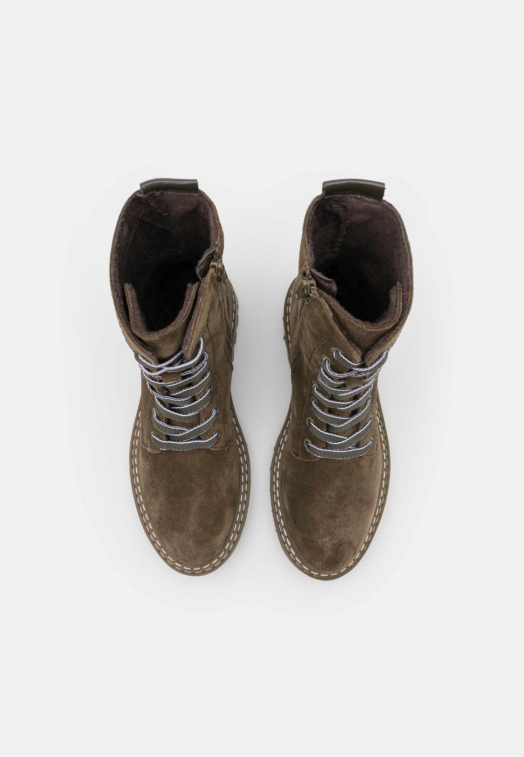Tamaris Boots - Snørestøvletter Olive/oliven-melert