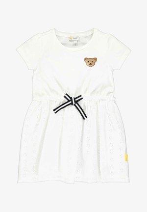STEIFF COLLECTION KLEID MIT TEDDYBÄRMOTIV - Day dress - bright white