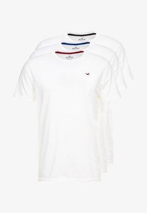 CREW CHAIN 3 PACK - Jednoduché triko - white
