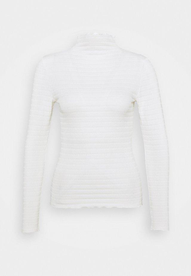 BYSALONA - T-shirt à manches longues - off white