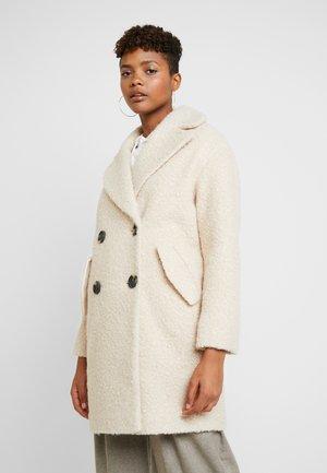 BOUCLE BUTTON OVERCOAT - Classic coat - cream