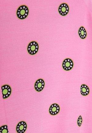 Korte jurk - logo dot pink