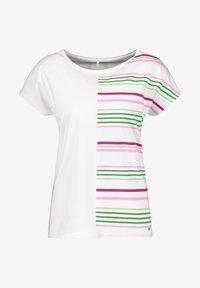 Gerry Weber - Print T-shirt - ecru/weiss/grün patch - 2