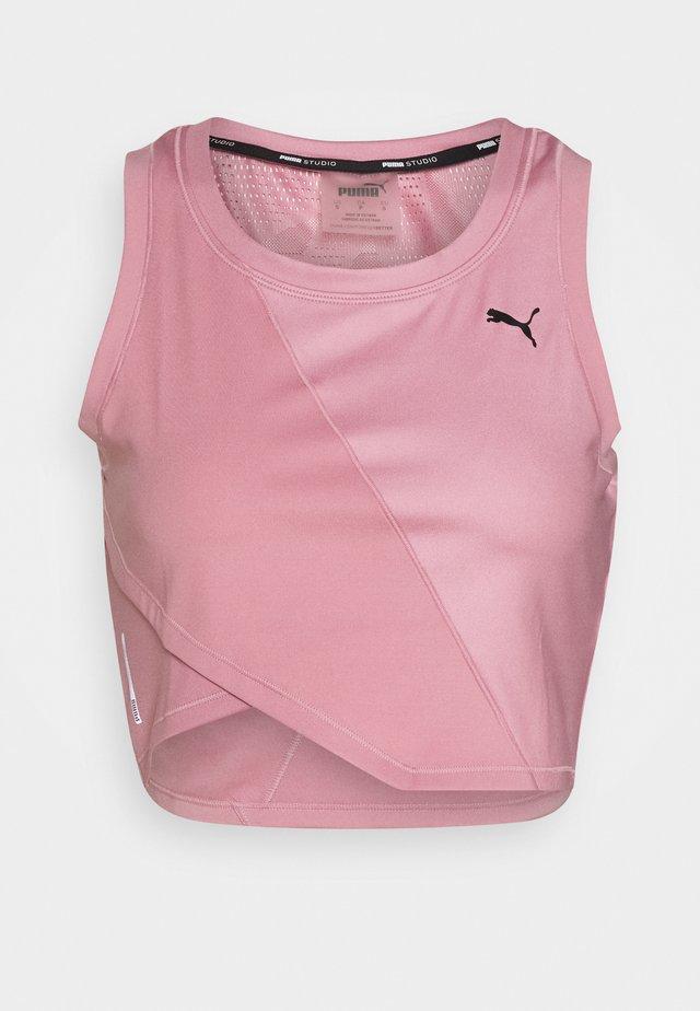 STUDIO CROP TANK - Camiseta de deporte - foxglove