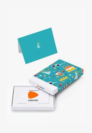 HAPPY BIRTHDAY - Gift card box - light blue