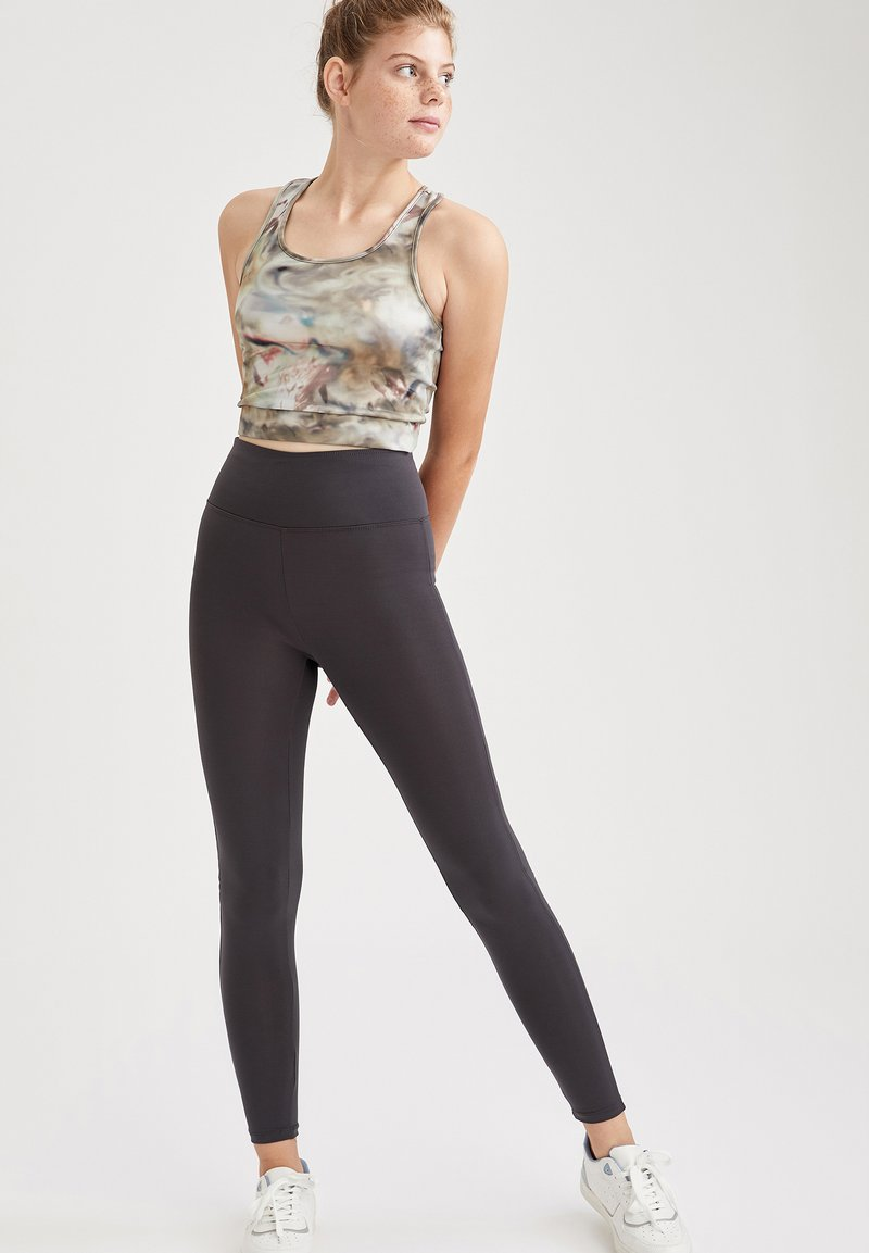 DeFacto Fit - Leggings - Trousers - anthracite