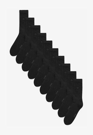 TEN PACK - Strumpor - black