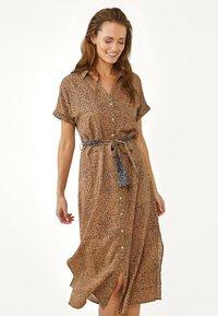 Aaiko - ANDE DOT - Shirt dress - dune dessin - 0