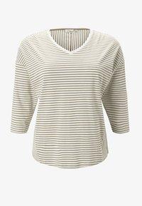 MY TRUE ME TOM TAILOR - Long sleeved top - khaki ecru horizontal stripe - 5