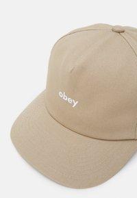 Obey Clothing - LOWERCASE SNAPBACK UNISEX - Cap - light kahaki - 3