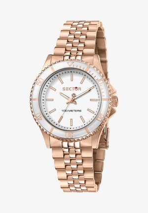 Horloge - weiß/rosegold