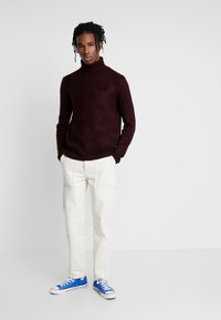 Mennace - TWILL CONTRAST CARPENTER - Trousers - ecru - 1