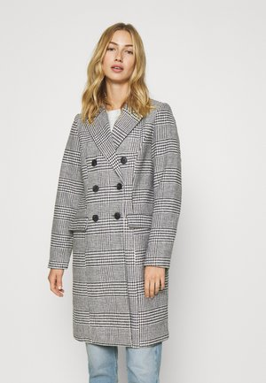 VMHAFIA CHECK JACKET - Klasyczny płaszcz - black/white