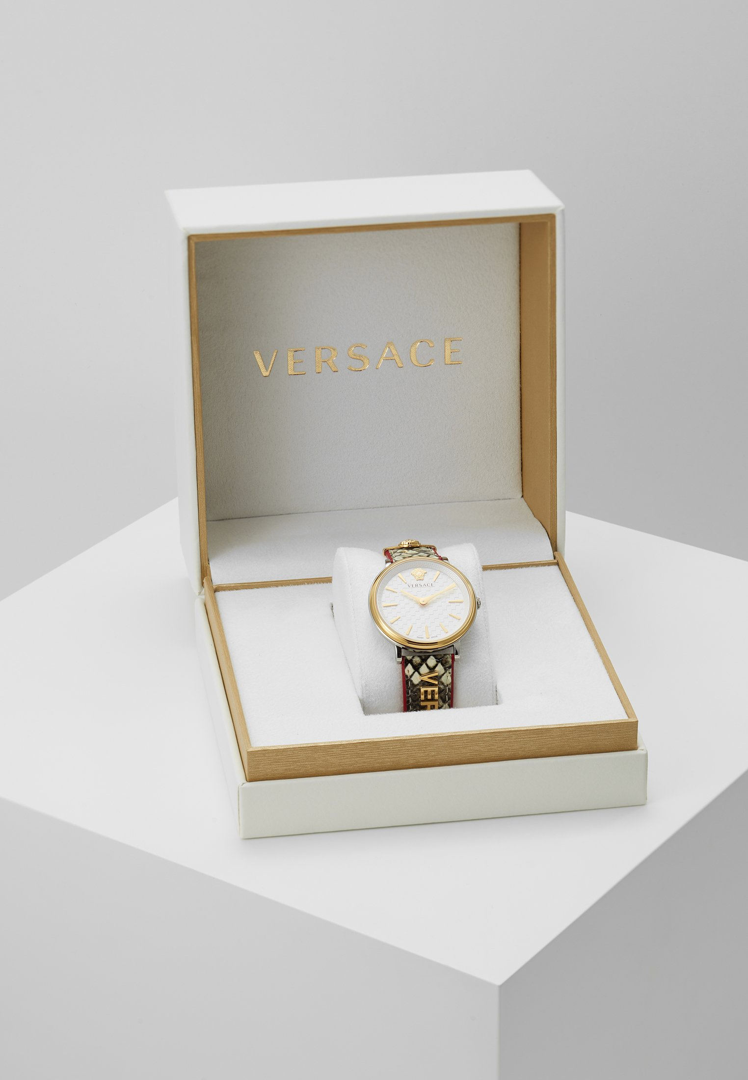 Versace Watches CIRCLE LOGOMANIA EDITION - Klokke - multicolor/beige 9jHcen3cSVYFHmx