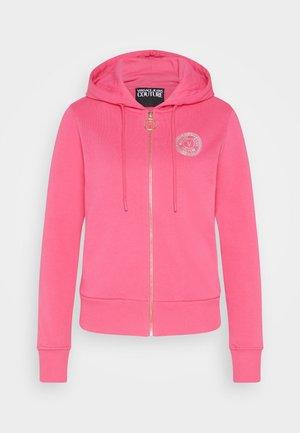 Zip-up sweatshirt - pink/gold-coloured