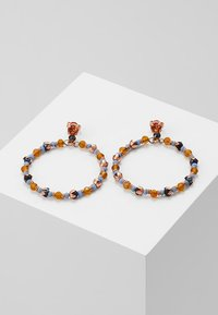 Konplott - BEAT OF THE BEADS - Øreringe - blue/brown - 0