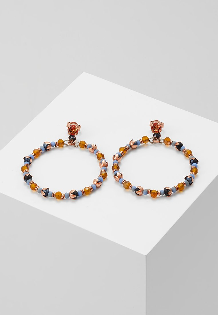 Konplott - BEAT OF THE BEADS - Øreringe - blue/brown