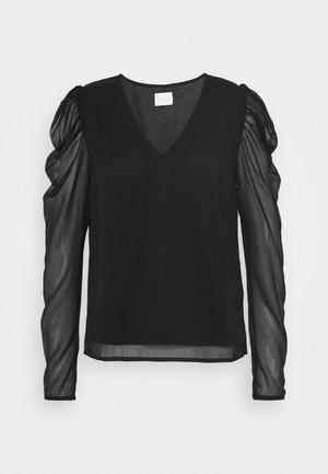 VIELLIAN - Langærmede T-shirts - black