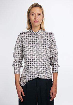 Button-down blouse - schwarz/weiß