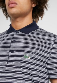 Lacoste Sport - STRIPE - Poloshirt - navy blue/white - 5