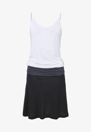 Jersey dress - schwarz-grau