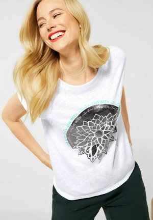 MIT FOLIENPRINT - Print T-shirt - weiß