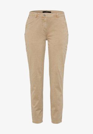 SLIM FIT  - Trousers - sesame