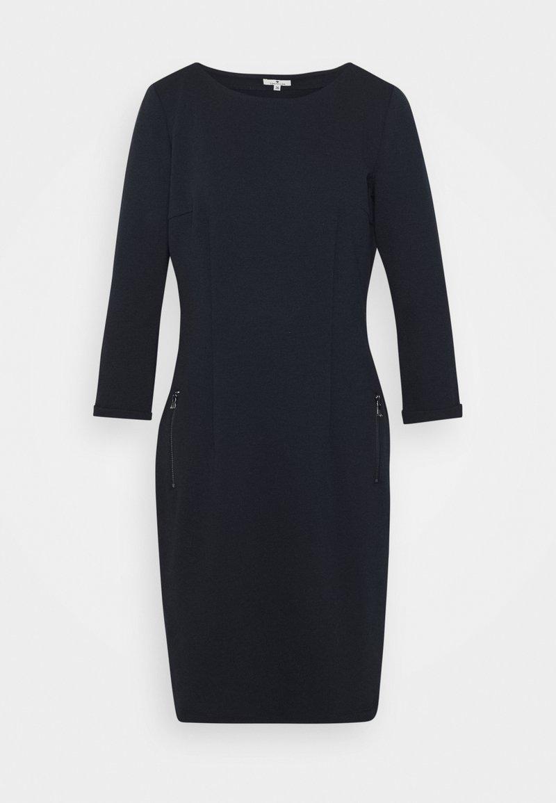 TOM TAILOR - DRESS WITH ZIPPER - Day dress - sky captain blue