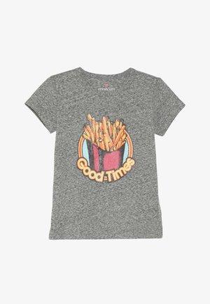 GLITTER FRY - T-shirt imprimé - mottled grey