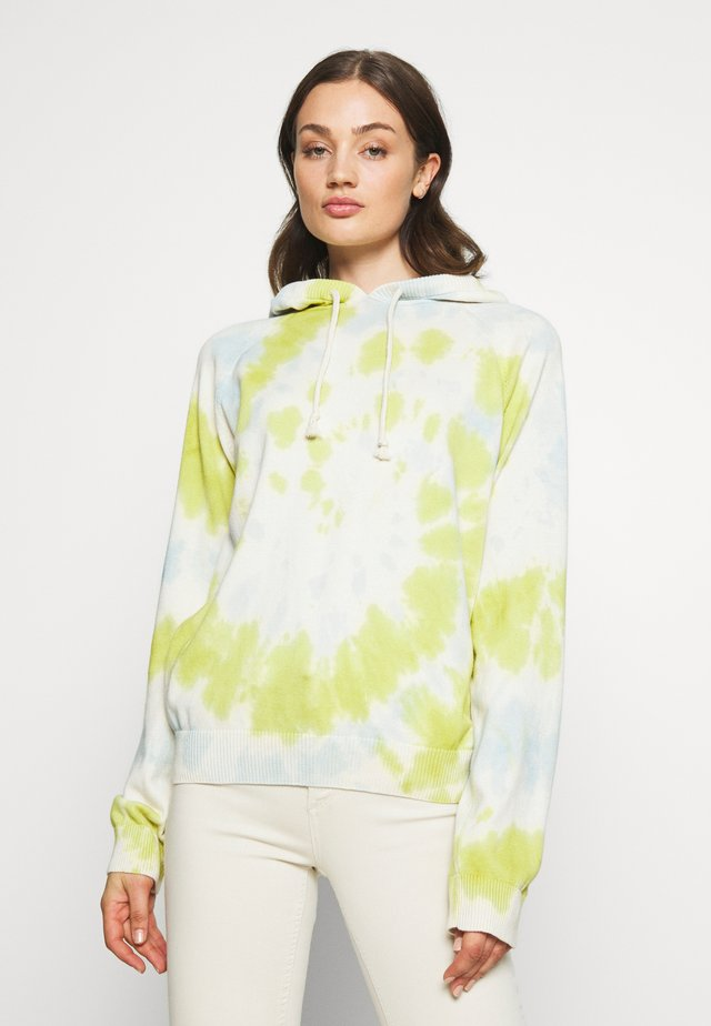 TIE DYE HOODED SWEATER - Felpa con cappuccio - lime