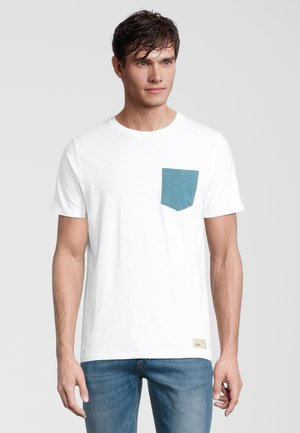 AWE - T-shirt print - white/blue