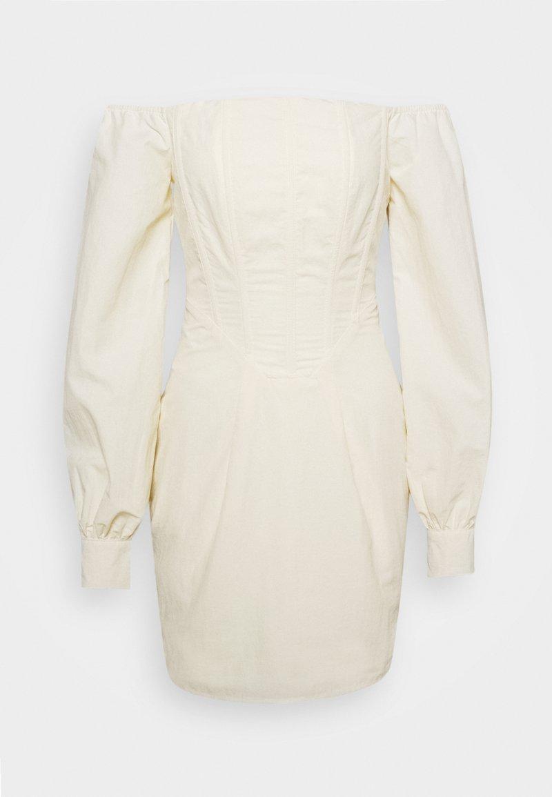 Missguided - CORSET DETAIL BARDOT MINI DRESS - Cocktail dress / Party dress - cream