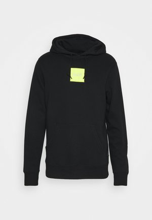 EMBROIDERED BOX LOGO HOODIE - Sweat à capuche - black