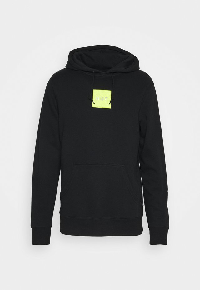 EMBROIDERED BOX LOGO HOODIE - Hoodie - black