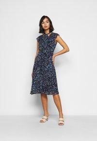 Lauren Ralph Lauren Petite - MARIKA  SLEEVE DAY DRESS - Day dress - navy blue - 1