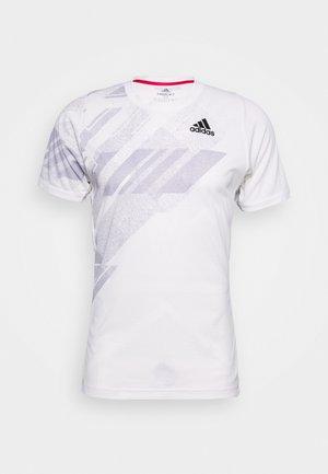 FLIF  - T-shirt con stampa - white/powerpink