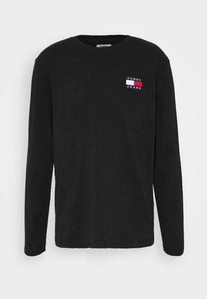BADGE LONGSLEEVE TEE - Langarmshirt - black