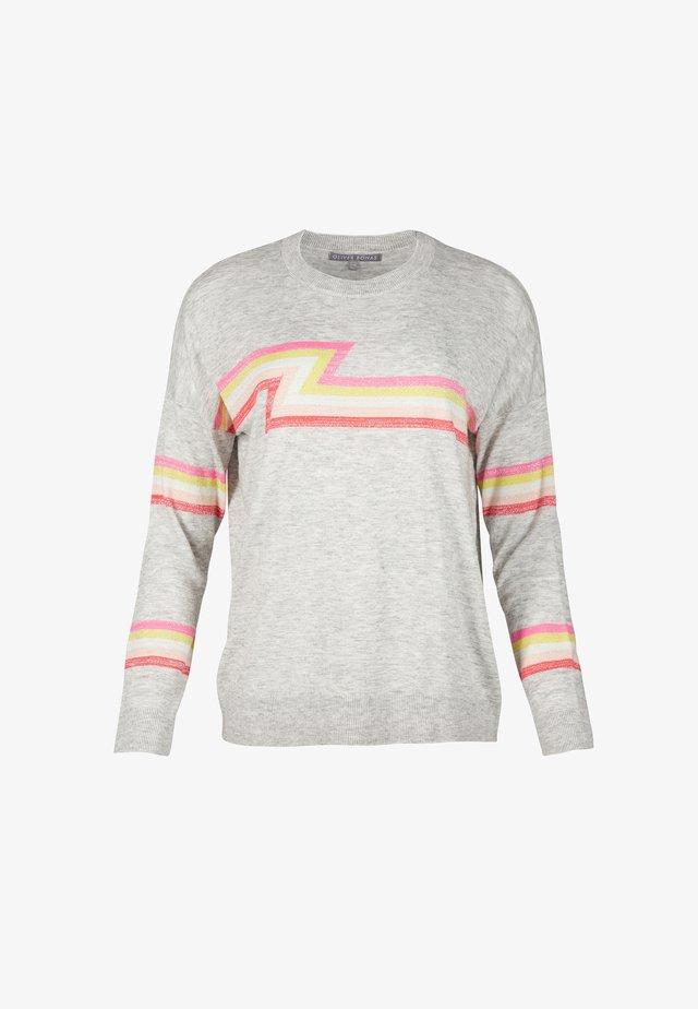 BRUNO SPARKLE STRIPED - Pullover - grey