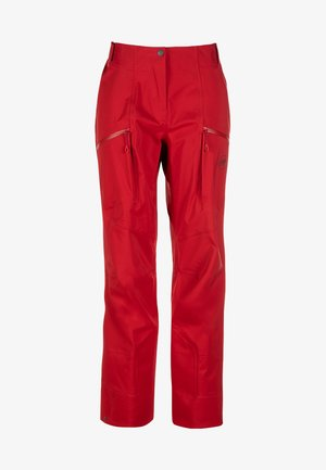 Długie spodnie trekkingowe - red