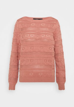VMTHREED BOATNECK - Strikkegenser - old rose