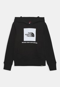 The North Face - BOX HOODIE UNISEX - Mikina - black/white - 0