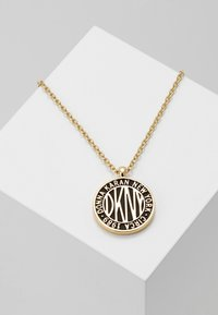 DKNY - LARGE TOKEN LOGO PENDANT - Collier - gold-coloured - 0