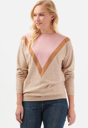 LALLY LUREX CHEVRON - Pullover - pink