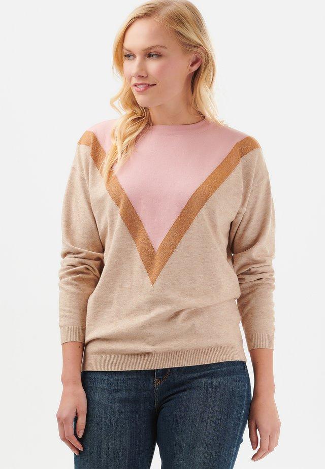LALLY LUREX CHEVRON - Sweter - pink